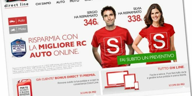 Home page di Directline